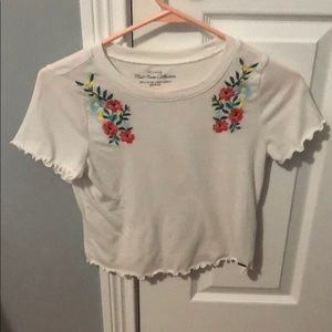 Floral and white T-shirt